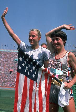 Grete Waitz y Joan Benoit - Los Angeles 1984