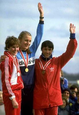 Grete Waitz - Mundial de Cross Gateshead 1983