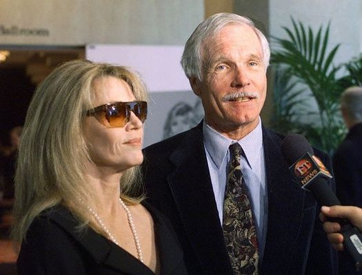 Jane Fonda y Ted Turner