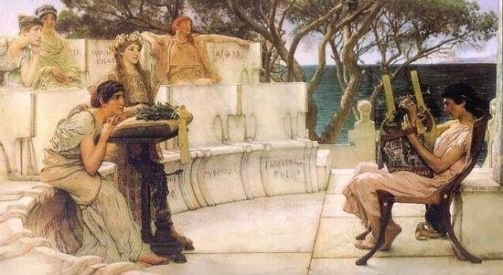 Safo de Lesbos (o de Mitilene); obra poética. Cultura antigua Safo_de_lesbos_02