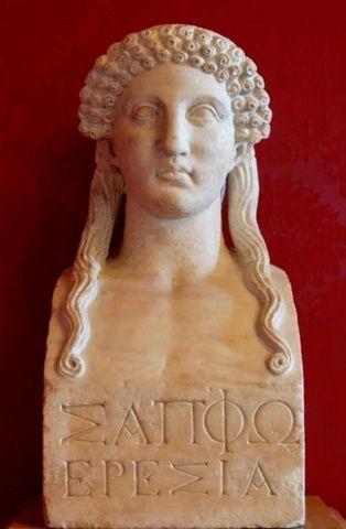 Safo de Lesbos (o de Mitilene); obra poética. Cultura antigua Safo_de_lesbos_03