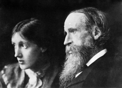 Virginia Woolf y su padre Sir Leslie Stephen