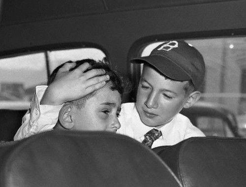 Los hijos de los Rosenberg: Michael, de 10 años, y Robert, de 6.
