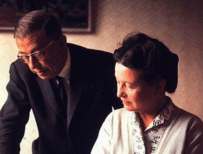 Simone de Beauvoir y Jean Paul Sartre